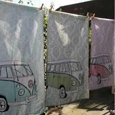 VW camper van tea towels