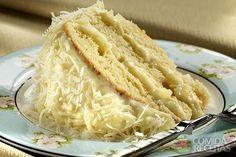 Receita de Bolo recheado com abacaxi e creme de coco em receitas de bolos, veja essa e outras receitas aqui!