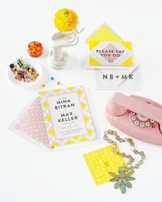 Mad Men-y throwback invitations by Mae Mae Paperie