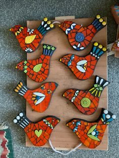 Mosaics for Gardeners by SucculentsNJewels Mosaic Rocks, Mosaic Tile Art, Mosaic Crafts, Mosaic Projects, Mosaic Glass, Mosaic Animals, Mosaic Birds, Mosaic Flowers, Cactus Doodle