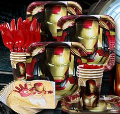 #IronMan3 party supplies for the Iron Man fan in your life!