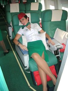 Join The Mile High Club With These Sexy Stewardesses Airline Attendant, Flight Attendant, In Pantyhose, Nylons, Alitalia Airlines, Air Hostess Uniform, Airline Cabin Crew, Airline Uniforms, Sexy Legs