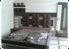 Bedroom is the place of home.We also need lots of furniture to make the room Just like a wardrob in the room. Modern Luxury Bedroom, Luxurious Bedrooms, Box Bed Design, Bedroom Furniture, Furniture Design, Double Bed Designs, Living Room Wall Units, Main Door Design, Wood Beds