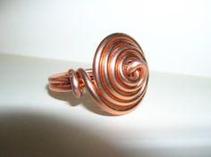Anello ring spirale filo alluminio colore rame di Queenfbijoux, €2.00