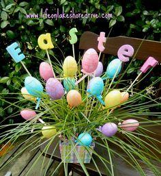 DIY- Easter Egg Spring Decor Arrangement