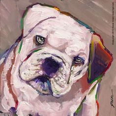 Bulldog daily painting | by Howie Green