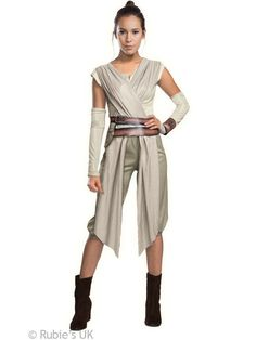 Adult Womens Official Star Wars Force Awakens Deluxe Rey Fancy Dress Costume £35.95