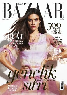 Sara Sampaio on Harper's Bazaar Turkey Magazine May 2016 Cover