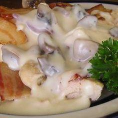 Bacon Mushroom Chicken .. we used turkey bacon as a substitute.. tasty tasty!