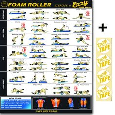 Eazy How To Foam Roller Exercise Workout Poster BIG 51 x 73 cm Relax, Stretch, Heal Muscle Therapy Home Gym Chart: Amazon.co.uk: Sports & Outdoors