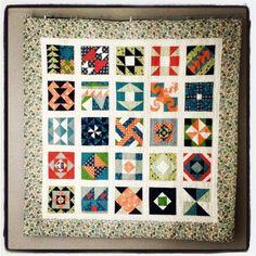 Civil War Sampler quilt  - paper piecing