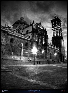 Cathedral of Puebla in Puebla de los Ángeles, Puebla, Mexico.