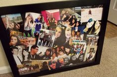Made this collage for my college dorm room (: