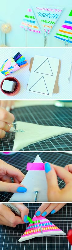 Triangle Jewelry Hanger | 18 DIY Summer Tumblr Room Decor Ideas that are insanely cute!