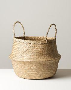 Large Seagrass Basket Natural Panier Boule by HummingtonHouse