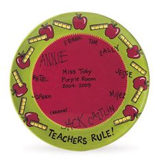teachers rule plate with signatures by The Pottery Stop Gallery!, via Flickr