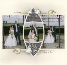 Duo Sofia-Lima Page de Rosetta Wedding Scrapbook Pages, Scrapbook Cards, Scrapbook Templates, Scrapbook Page Layouts, Wedding Album, Wedding Photos, Mosaic Wedding, 60 Wedding Anniversary, School Scrapbook
