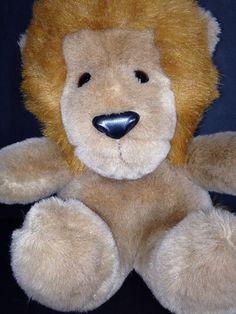 "Gund Roarry Roary Lion King of Beasts 11"" Plush Stuffed Animal Vintage 1979 Tags | eBay"
