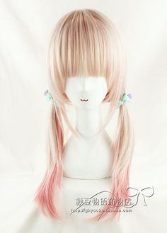 blonde and pink wig