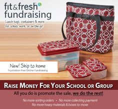 Stress-free fundraising for your school or club! Earn 40% of sales towards your school or charity while promoting a healthy lifestyle for the entire family. Learn more and view our catolog at www.Fit-Fresh.com/Pages/Fundraising