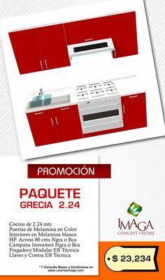 "Cocinas Imaga ""Piensa en ti"" Promoción Paquete Grecia 2.24 m"