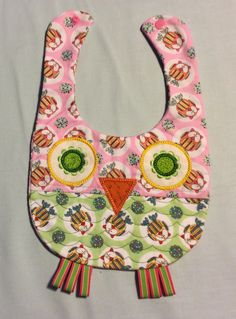 Pink Owl Bib | baby shower gift | baby bibs | quilted bibs | cotton bibs | bibs for girls | feeding bib | handmade bibs | fun bibs by OmasFabricAndGifts on Etsy https://www.etsy.com/listing/187551355/pink-owl-bib-baby-shower-gift-baby-bibs