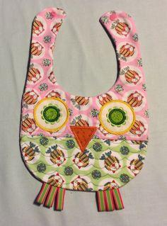 Pink Owl Bib | baby shower gift | baby bibs | quilted bibs | cotton bibs | bibs for girls | feeding bib | handmade bibs | fun bibs by OmasFabricAndGifts on Etsy https://www.etsy.com/listing/187551355/pink-owl-bib-baby-shower-gift-baby-bibs