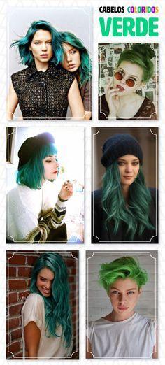 26 inspirações de cabelo colorido: verdes