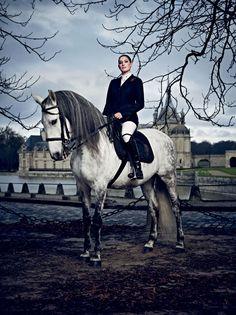 Jessica Springsteen, in Gucci Equestrian in Vanity Fair magazine
