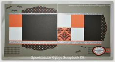 Scrapbooking Kits: NEW 6 Page Halloween Scrapbook Kit featuring the SPELLBOUND Papers & SILVER GLITTER PAPER- $20 #ctmh #scrapbookkits