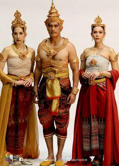 Thai Thai, Thai Art, Traditional Thai Clothing, Traditional Dresses, Thai Dress, Thai Style, Asian Fashion, Ethnic, Wonder Woman