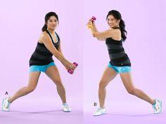 Tone your shoulders with Jenna Ushkowitz's woodchop move!
