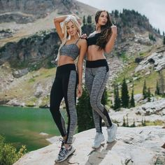 Long, lean, and luxuriously smooth, these premium compression leggings stand up to any workout and take you all over town in style. The wide waistband (now with a higher waist) provides a contoured an