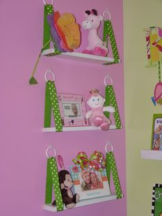 baby room hanging shelves