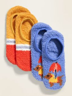 Pack includes 2 pairs of Cozy Sneaker Socks, each in a different color, pattern or print. Soft, plush chenille, with comfortable stretch. Textured vinyl logo and gripper dots at sole. Shop Old Navy, Sale Items, Rib Knit, Baby Shoes, Sneaker, Plush, Slippers, Pairs, Socks
