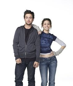 Still of Emmy Rossum and Justin Chatwin in Shameless