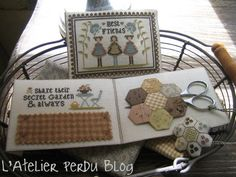 l'atelier perdu blog Couture, Patches, Blog, Cross Stitch, Quilts, Sewing, Friends, Pattern, Stitching