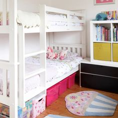 Childrens Bedroom With White Bunk Beds