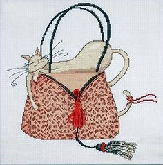 Libby loves bags © Marilyn Robertson Catitudes™ http://www.sewinspiring.co.uk/acatalog/design_works_cross_stitch_kits_designworks.html