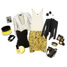 mellow yellow, created by marmar2820 on Polyvore