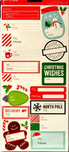 Pebbles Christmas Icons & Phrases Self-Adhesive Diecut Cardstock Stickers are available at Scrapbookfare.