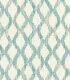 Kelly Ripa Upholstery Fabric-Floating Trellis Spa