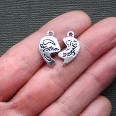 2 Mother Daughter Charms Antique Tibetan by BohemianFindings, $2.85