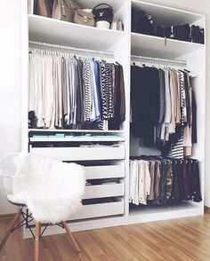 49 Creative Closet Designs Ideas For Your Home. Unique closet design ideas will definitely help you utilize your closet space appropriately. An ideal closet design is probably the only avenue towards . Bedroom Closet Storage, Ikea Closet, Bedroom Closet Design, Master Bedroom Closet, Wardrobe Storage, Bedroom Wardrobe, Closet Designs, Bedroom Organization, Diy Bedroom
