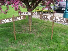 Wedding lawn game Signs 3 LARGEoutdoor weddings by primitivearts, $70.00
