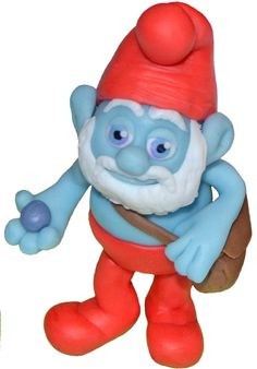 The Smurfs fondant cake topper - one of 'The Smurfs' characters. Edible Papa Smurf, Smurfette, Brainy Smurf and others. by 101cakes on Etsy