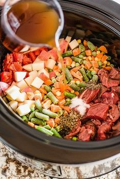 Vegetable Beef Soup | 21 Crock Pot Dump Dinners For Winter