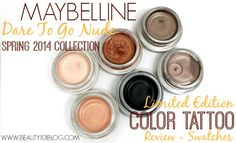 """Maybelline """"Dare To Go Nude"""" Limited Edition Color Tattoo Review + Swatches. These colors are GORGEOUS! #beauty #makeup #beautytips"""