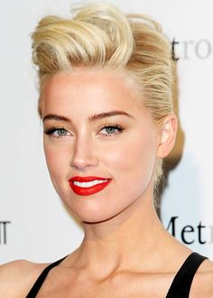 top Best Of Female Pompadour Hairstyle 20 best short wedding hairstyles that mak 2020 Hair Trends female hairstyle hairstyles mak Pompadour Short top wedding Pixie Hairstyles, Short Hairstyles For Women, Celebrity Hairstyles, Trendy Hairstyles, Pixie Haircuts, Pompadour Hairstyle, Hair Puff, Estilo Rock, Amber Heard