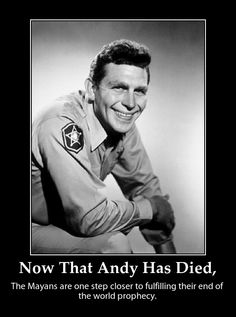 Andy Griffith...Mayberry...oh life was so simple back then...or was it?